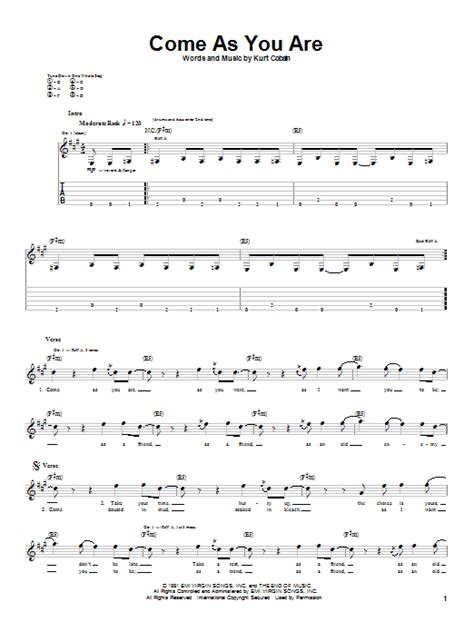 Come As You Are | Sheet Music Direct