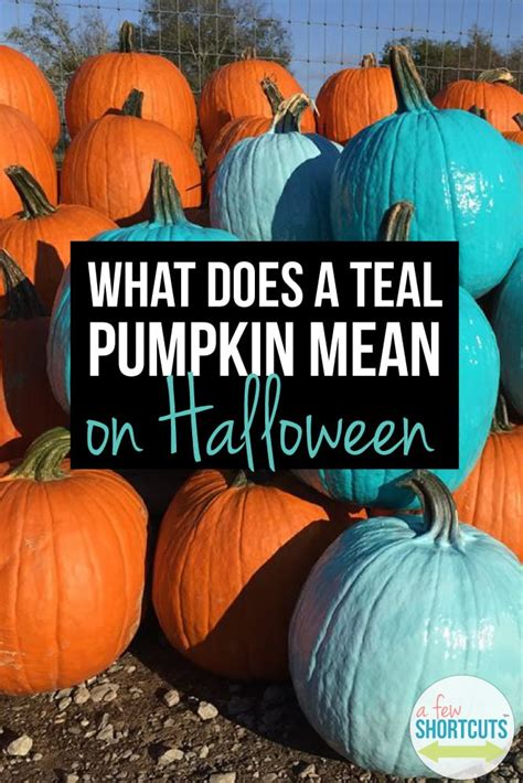 What Does a Teal Pumpkin Mean on Halloween? - A Few Shortcuts