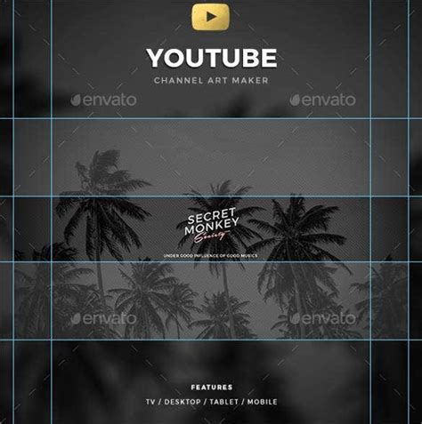 Youtube Channel Art Template - 47+ Free PSD, AI, Vector