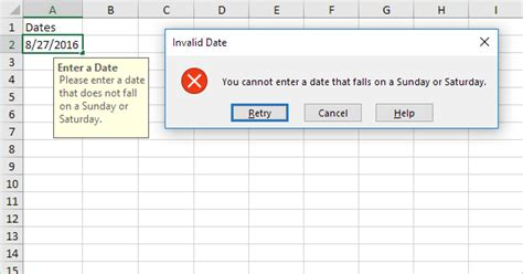 Reject Invalid Dates in Excel - Easy Excel Tutorial